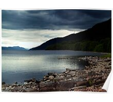 Overcast At Loch End, Scotland. Poster