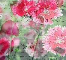 Pink Flower Antique Collage by RachelAlbang