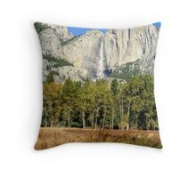 """Upper Yosemite Falls"" Throw Pillow"