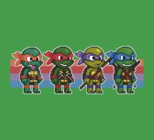 Teenage Mutant Ninja Turtles TMNT Pixel Stripes by geekmythology