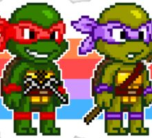 Teenage Mutant Ninja Turtles TMNT Pixel Stripes Sticker