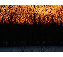 sunset fire Photographic Print