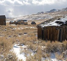 Bodie Ghost Town and Approaching Blizzard by Rick Ferens