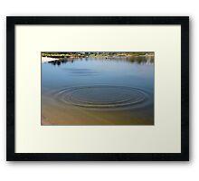 Zen Ripples Framed Print