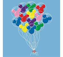 Mickey Balloons Photographic Print