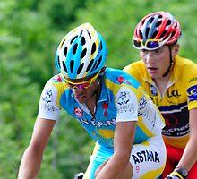Contador V's Brajkovic by Eamon Fitzpatrick