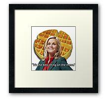 Leslie Knope Loves Waffles Framed Print