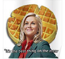 Leslie Knope Loves Waffles Poster