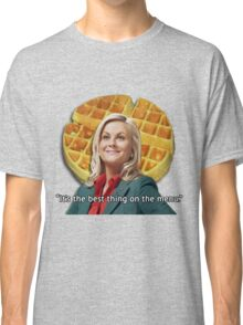 Leslie Knope Loves Waffles Classic T-Shirt