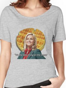 Leslie Knope Loves Waffles Women's Relaxed Fit T-Shirt