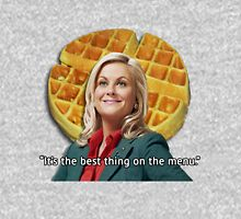 Leslie Knope Loves Waffles Unisex T-Shirt