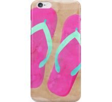 Flip Flops in the Sand - watercolor iPhone Case/Skin