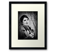 smoking... Framed Print