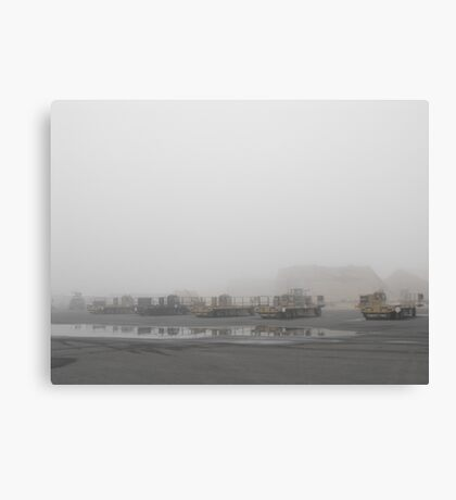 K-Loaders in the Mist Canvas Print