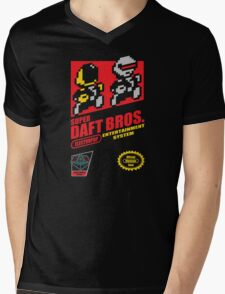 Super Daft Bros. Mens V-Neck T-Shirt