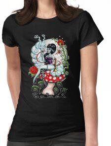 Alice in Zombie Land - Schmokin' Caterpillar Womens Fitted T-Shirt