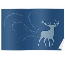 EXPECTO Stag Patronus Poster