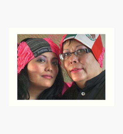 (543) Amsterdam Mexico and Mexican flag turban Art Print