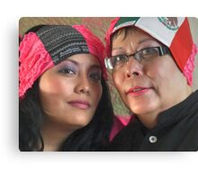 (543) Amsterdam Mexico and Mexican flag turban Canvas Print