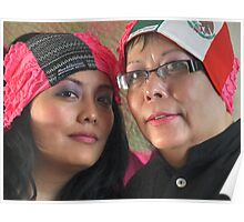 (543) Amsterdam Mexico and Mexican flag turban Poster