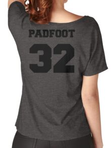 """The Marauders -- Sirius """"Padfoot"""" Black Women's Relaxed Fit T-Shirt"""