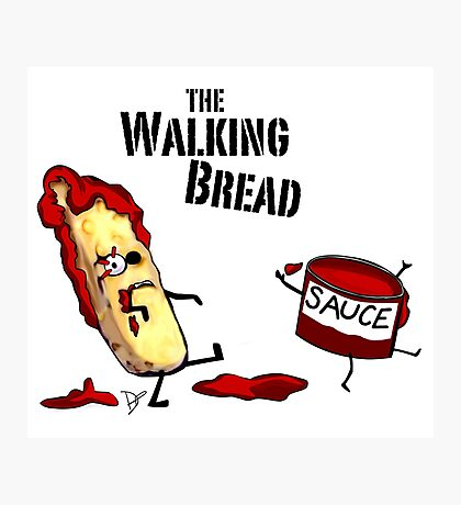 The Walking Bread Photographic Print
