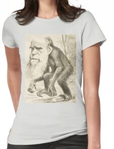 DARWIN:   The Monkey's Uncle! Womens Fitted T-Shirt