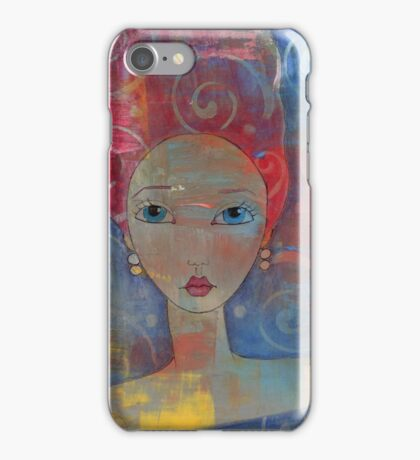Red Haired Art Girl iPhone Case/Skin