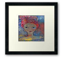 Red Haired Art Girl Framed Print