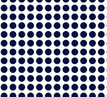 White with blue dots by Christy Leigh