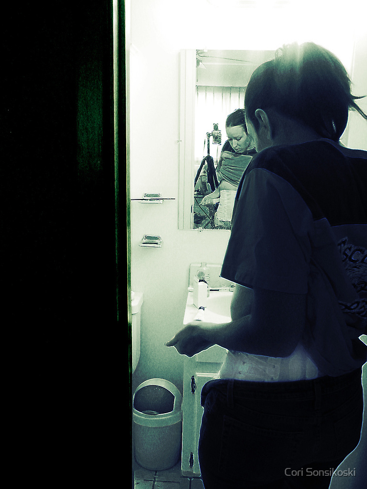 Holy Shit. (Mirror in the Bathroom series) by Coriander Sievers