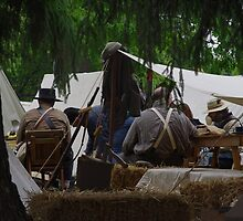 Spying on Confederate Camp by James Formo