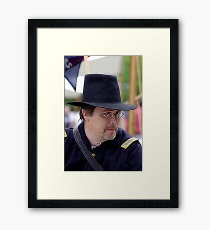 Portrait of a Union Soldier Framed Print
