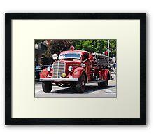Mack 1938 Fire Truck Framed Print