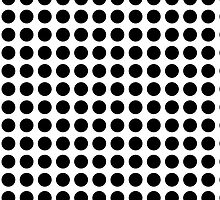 White with black dots by Christy Leigh