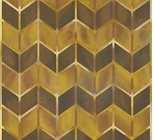 Chevron - Gilded Bronze by Theysaurus