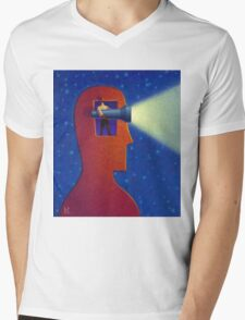 Shine Your Light Mens V-Neck T-Shirt