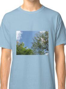 Blue Sky and Green Leaves Classic T-Shirt