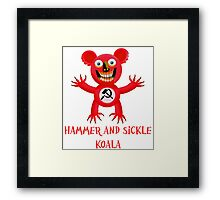 HAMMER AND SICKLE KOALA Framed Print