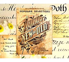 Antique Hymn Collage Photographic Print