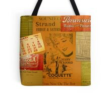 Antique Collage with Mary Pickford Tote Bag