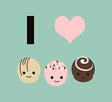 I heart (love) chocolate truffles by Eggtooth