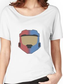 Red vs Blue Poster Women's Relaxed Fit T-Shirt