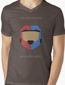 Red vs Blue Poster Mens V-Neck T-Shirt