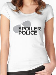 Spoiler Police (They're always watching.) Women's Fitted Scoop T-Shirt