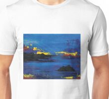 Blue Abstract Sea Unisex T-Shirt