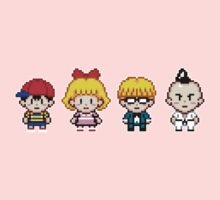 Earthbound Pixels - Ness, Paula, Jeff & Poo Kids Clothes