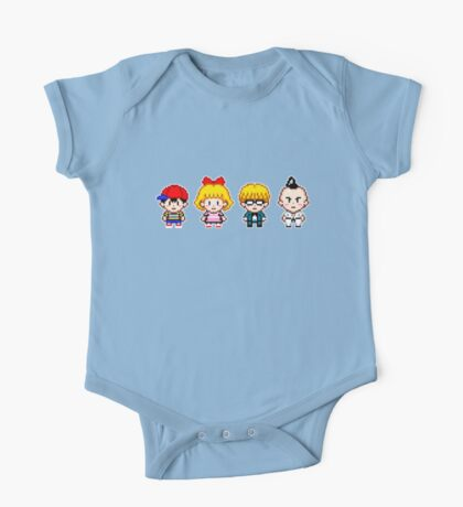 Earthbound Pixels - Ness, Paula, Jeff & Poo One Piece - Short Sleeve