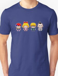 Earthbound Pixels - Ness, Paula, Jeff & Poo Unisex T-Shirt