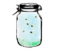 Firefly Mason Jar Photographic Print